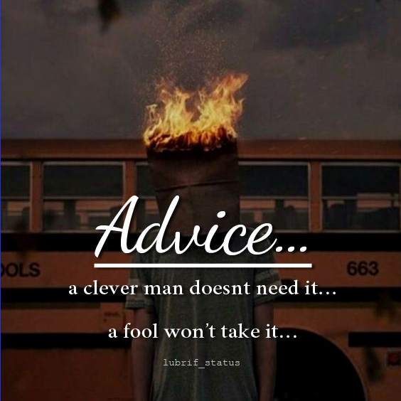 advice quotes and status