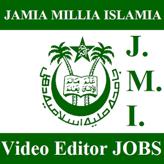 Jamia Millia Islamia, JMI, New Delhi, Video Edotor, Graduation, freejobalert, Sarkari Naukri, Latest Jobs, jmi logo