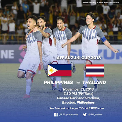 Live Streaming Philippines vs Thailand AFF Suzuki 2018 21.11.2018