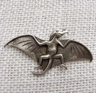 pterodactyl brooch