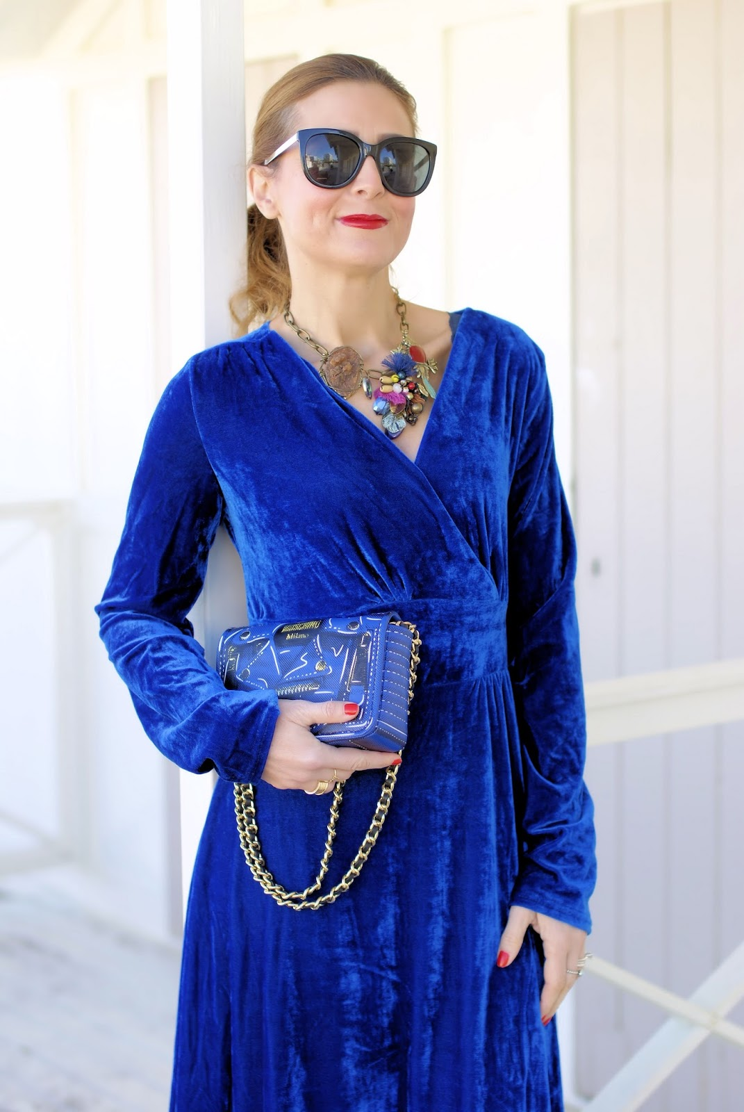 Rosegal maxi velvet dress on Fashion and Cookies fashion blog, fashion blogger style
