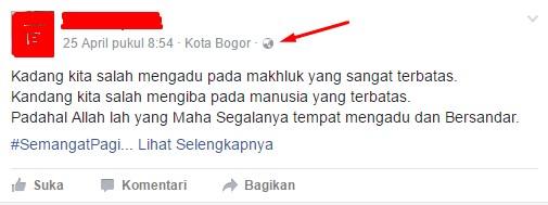 Wow!! Benarkah Status Facebook yang Berbau Islami Tidak Bisa Dibagikan Lagi?