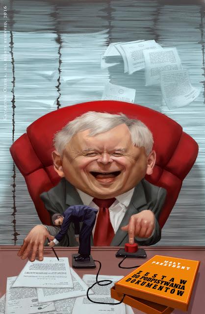 Jarosław Kaczyński Caricature