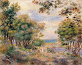 Landscape at Beaulieu by Pierre-Auguste Renoir - Landscape Paintings from Hermitage Museum