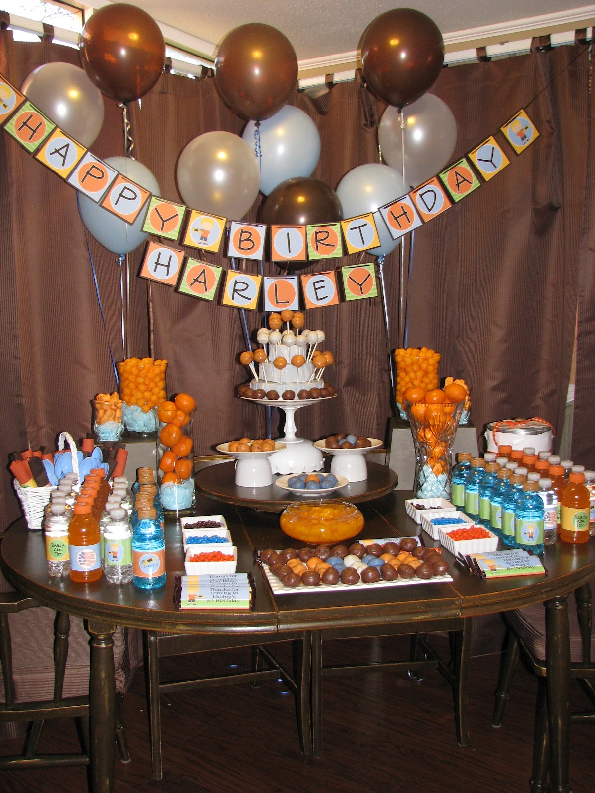 Sweet Shindigs Nerf War Birthday Party Dessert Table