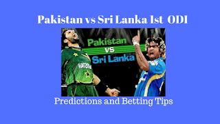 Pakistan vs Sri Lanka 1st ODI Predictions and Betting Tips for Today Match