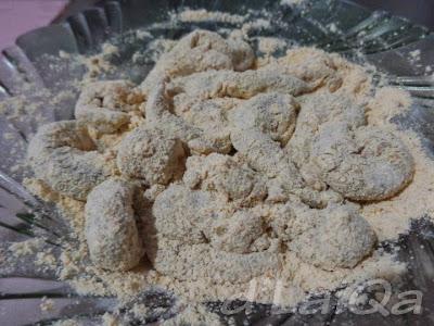 adonan udang + tepung bumbu