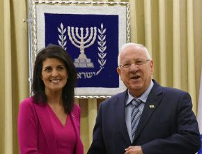 Representante dos EUA na ONU se compromete a defender Israel