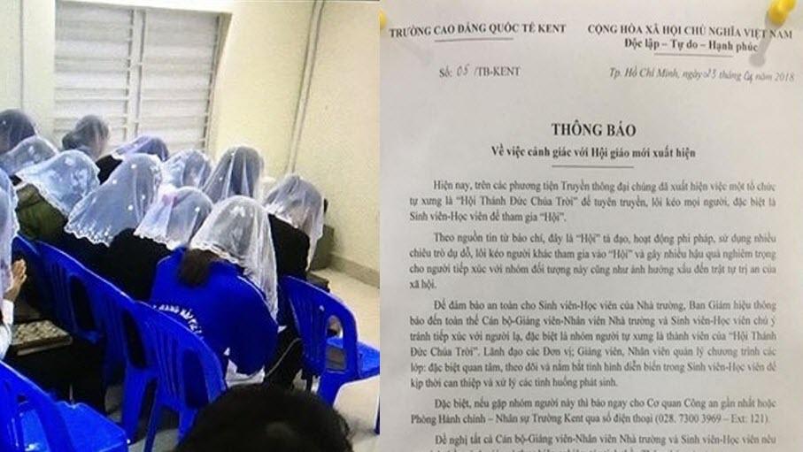 Hàng loạt trường Đại học phát cảnh báo khẩn trước sự hoành hành của 'Hội Thánh Đức Chúa Trời'
