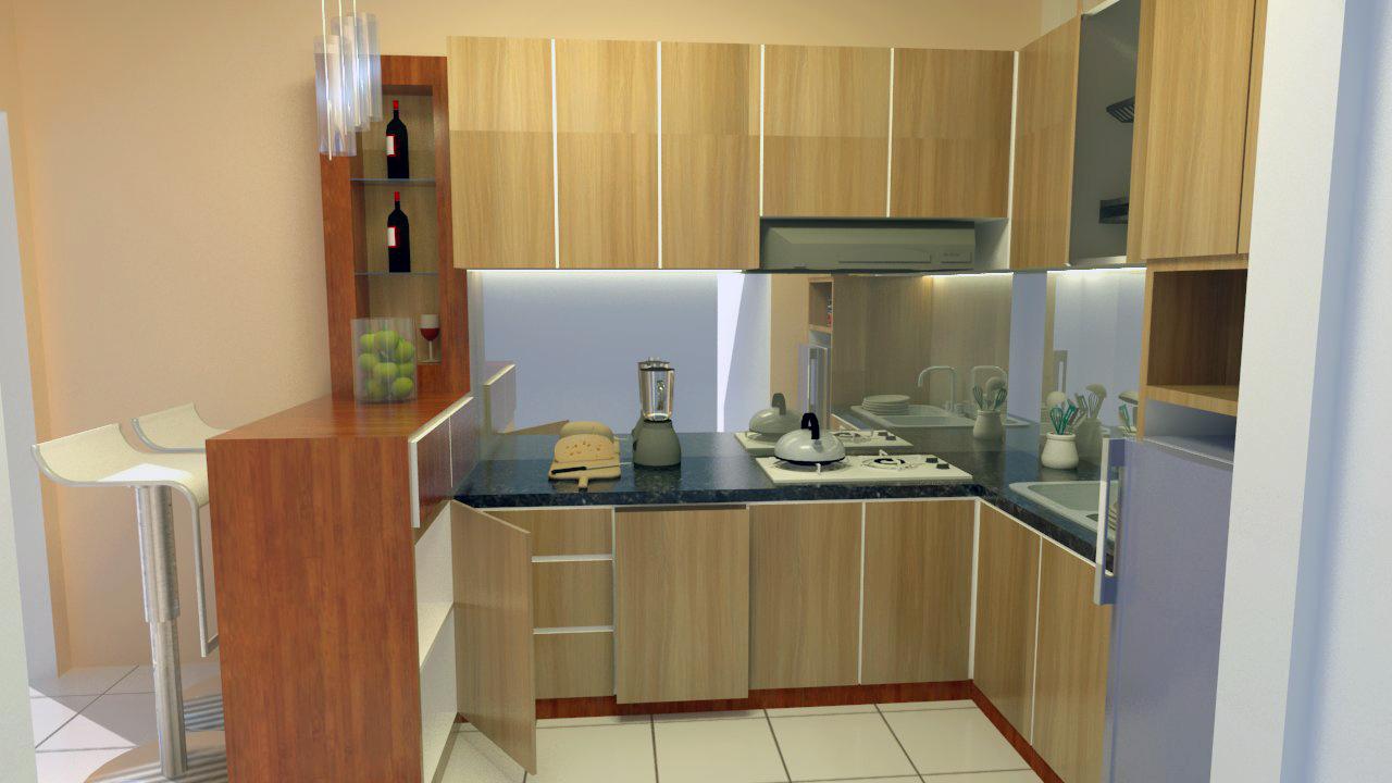 Jasa jual kitchen set minimalis perumahan desain premium for Kitchen set jual