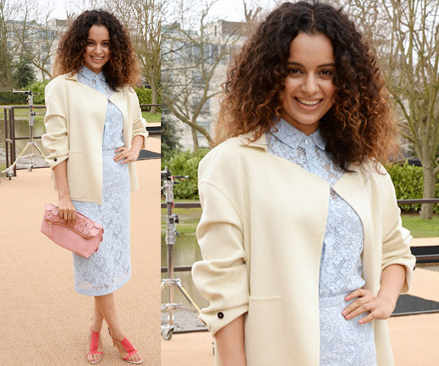 Kangana Ranaut wearing Burberry at the Burberry Prorsum Womenswear