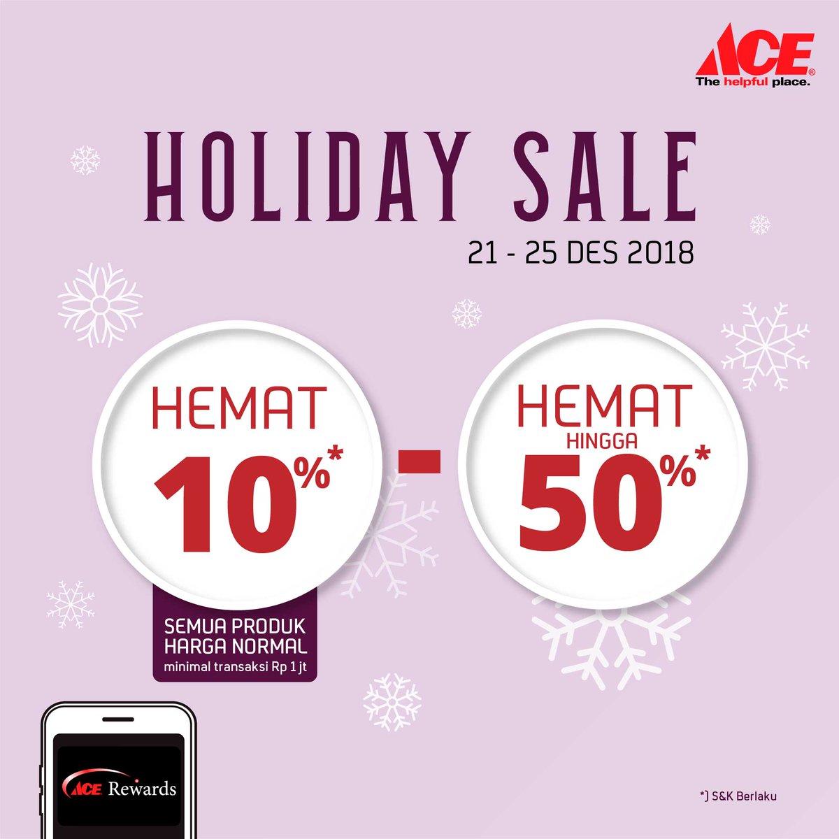 #AceHardware - Promo Hemat Mulai 10% s/d 50% di Holiday Sale 2018 (s.d 25 Des 2018)