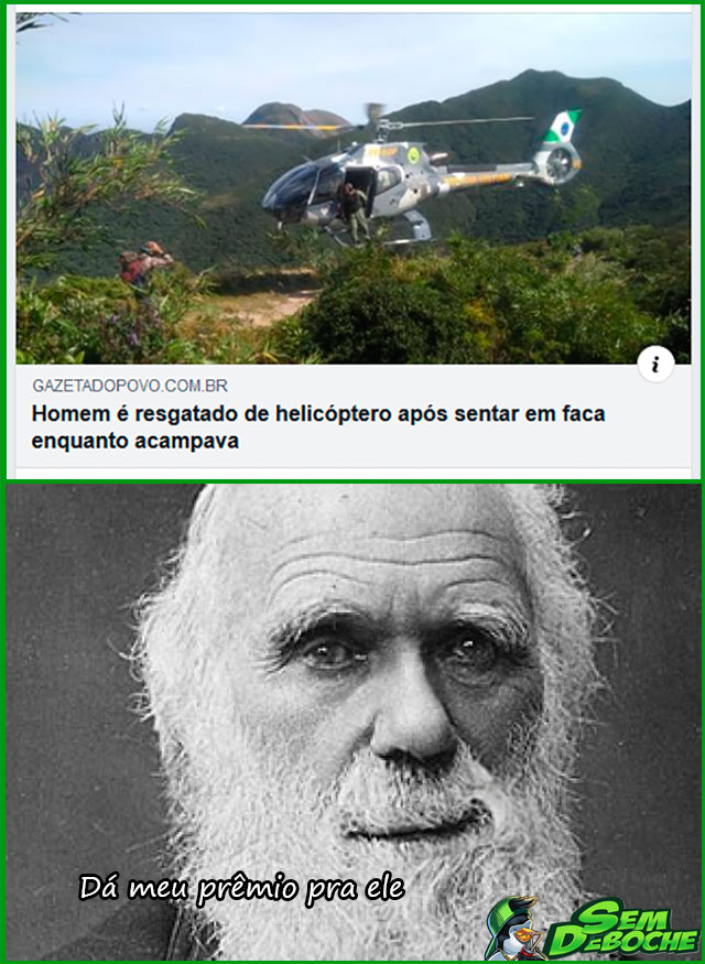 O CASO DO CARA QUE SENTOU NUMA FACA