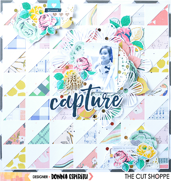 "The Cut Shoppe: ""Capture"" Scrapbook Layout"