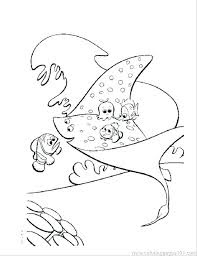 Finding Nemo Stingrays Coloring Pages