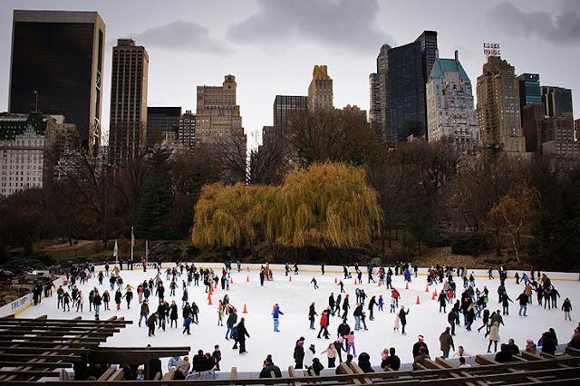 Pistas de gelo em Nova York