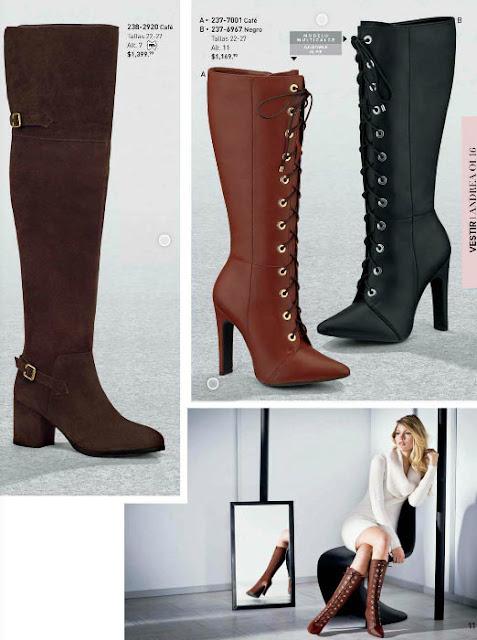 botas y botines con cordones