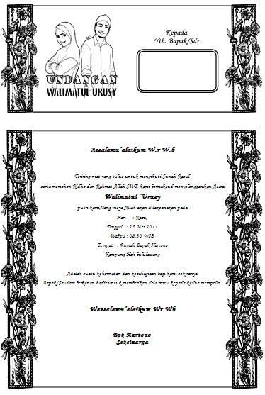 Contoh Undangan Pernikahan Sederhana Doc Contoh Woke