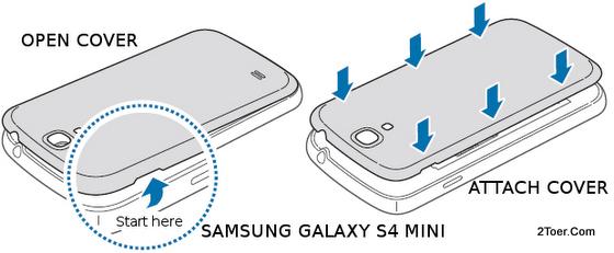 2Toer: Samsung Galaxy S4 Mini GT-I9195/ I9190/ I9192 Open Cover
