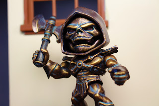 Myaaah! The Loyal Subjects Custom Bronze Skeletor Masters of the Universe figure by Hunter Knight Customs