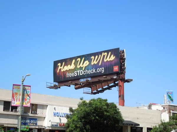 Hook Up STD billboard