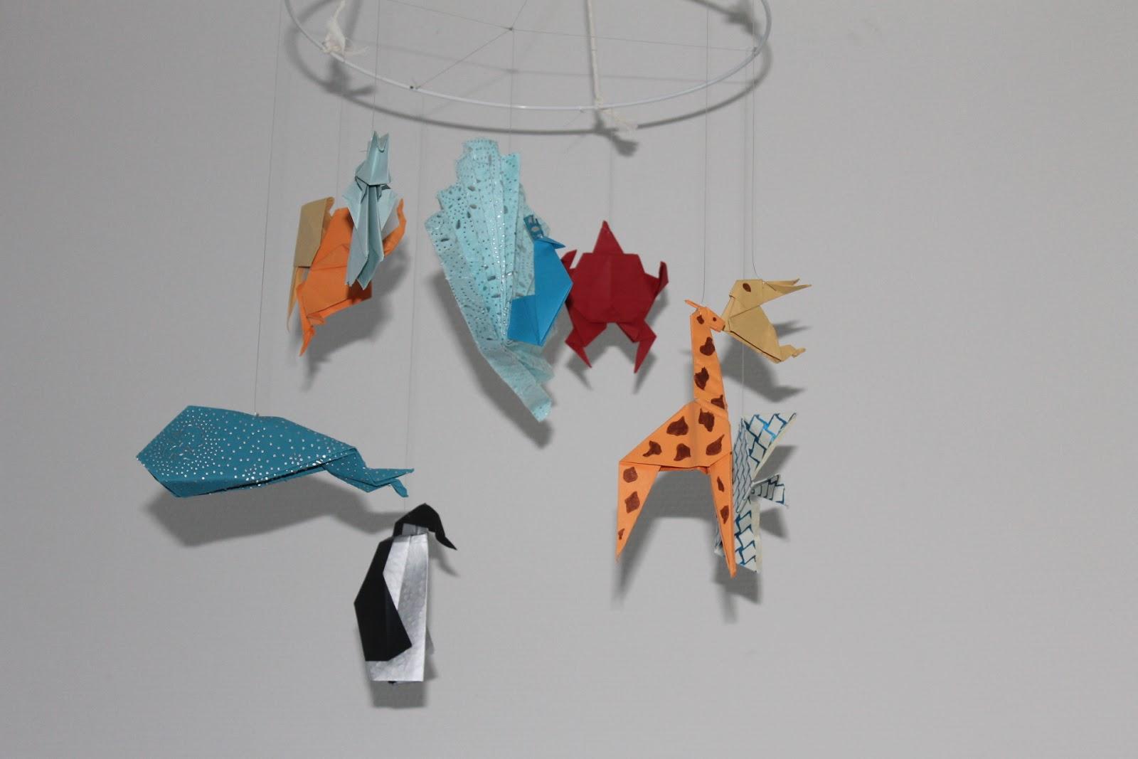 idee DIY mobile origami
