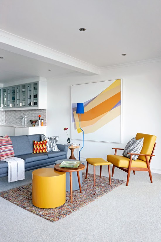 Safari Fusion blog >< Colour crush] Yellow | Mid century modern in a Clifton apartment Cape Town. South Africa
