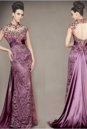 Model Baju Pesta Renda Modern Panjang   Fashion Tren