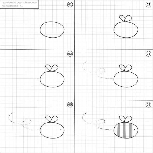 Learn to draw a bee for kids