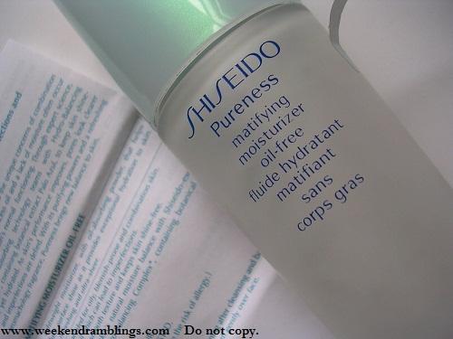 Shiseido Pureness Mattifying Moisturizer - Review