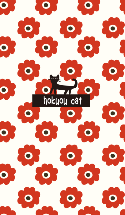 hokuou cat (red flower) japan