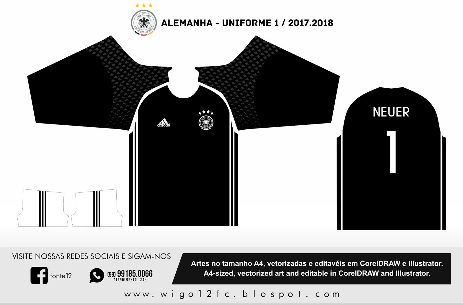 Fontes Camisas de Futebol  Uniforme Alemanha 2016 57c3e9b7b032b