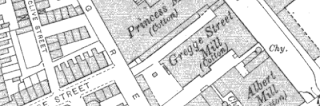 Gregge Street Mill, OS map, 1907.