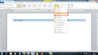 membuat agenda di ms word