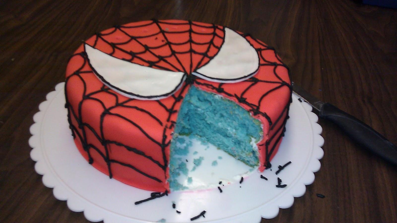 Wright Designs Spiderman Cake