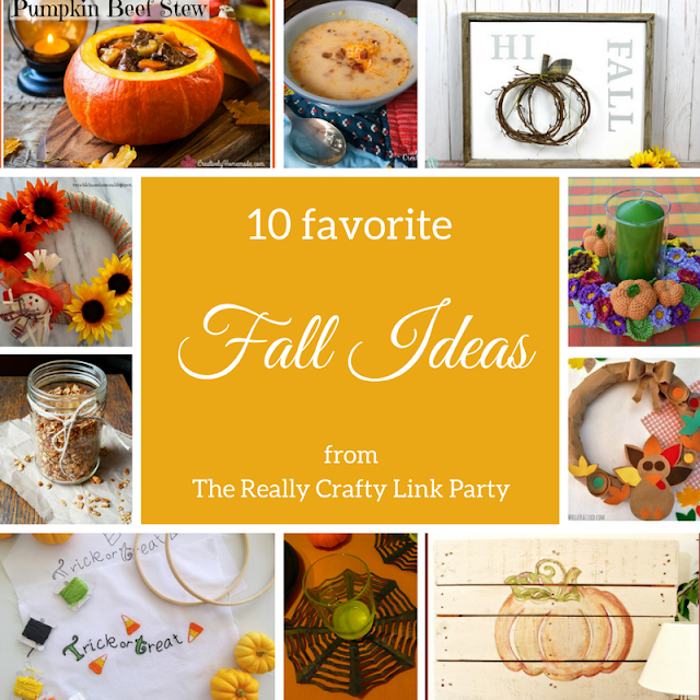 10 favorite fall ideas from The Really Crafty Link Party