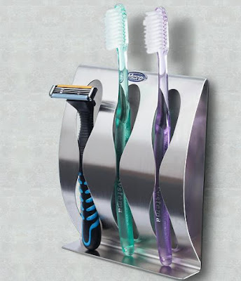 Stainless Steel Toothbrush Holder