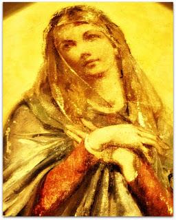 Nossa Senhora e As Crianças, Aldo Locatelli - Detalhe da Virgem