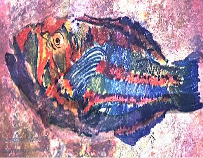 purple fish painting pat calabro