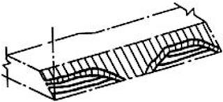 Обратноступенчатая сварка, при которой многослойный шов выполняют отдельными участками с полным заполнением каждого из них