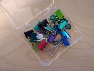 colorful binder clips