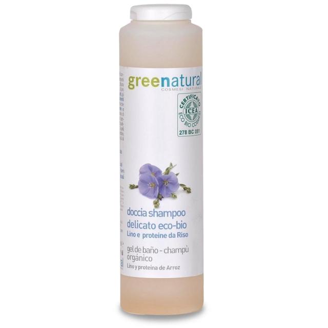 Doccia-Shampoo Lino e Riso - Greenatural