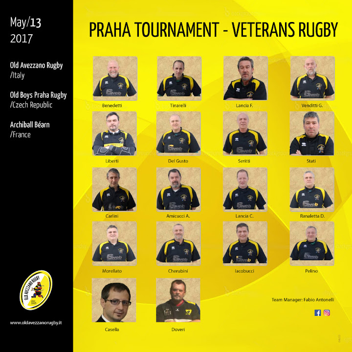 Praha Tournament Veterans Rugby - Old Rugby Avezzano
