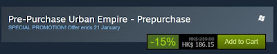 Pre-Purchase Urban Empire on Steam save 15%
