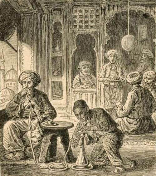 Курение кальяна  история табака
