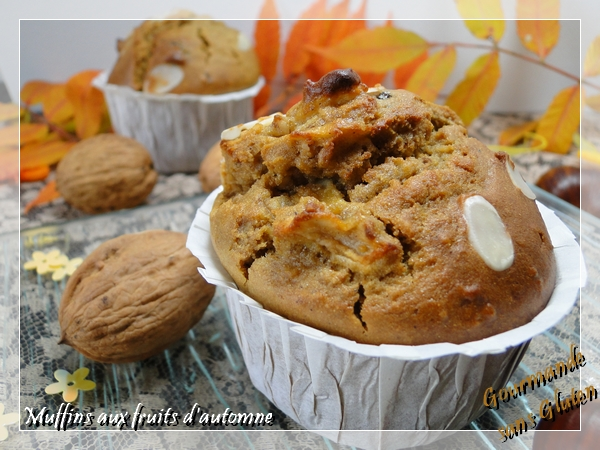 Muffins aux fruits d'automne sans gluten