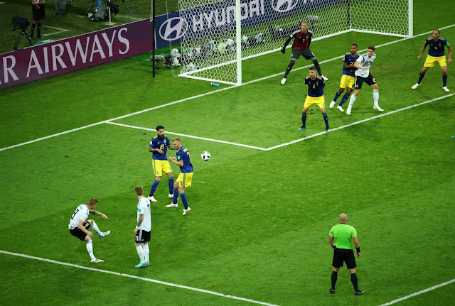 Goal! Toni Kroos scores a brilliant freekick to win it for Germany vs Sweden (Video)