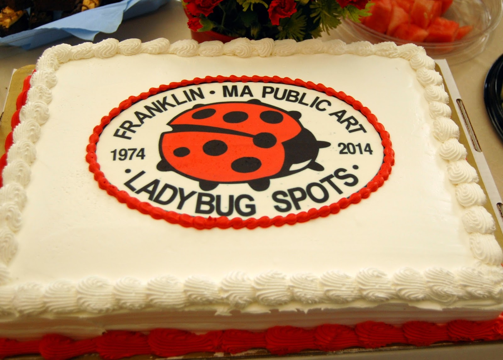 "The public art project called ""ladybug spots"" was also highlighted"