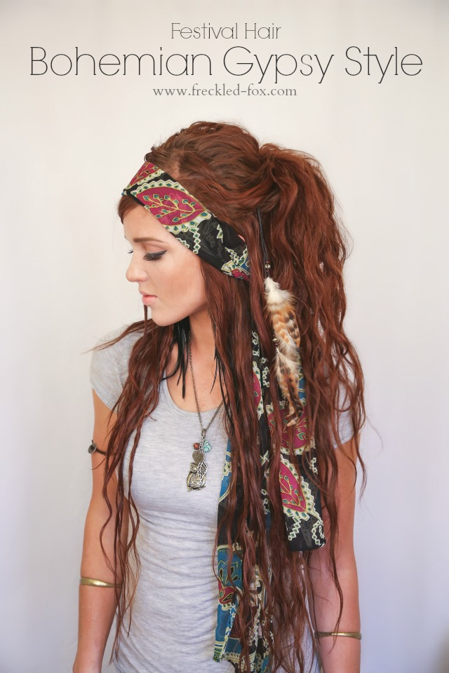the freckled fox festival hair week bohemian gypsy style