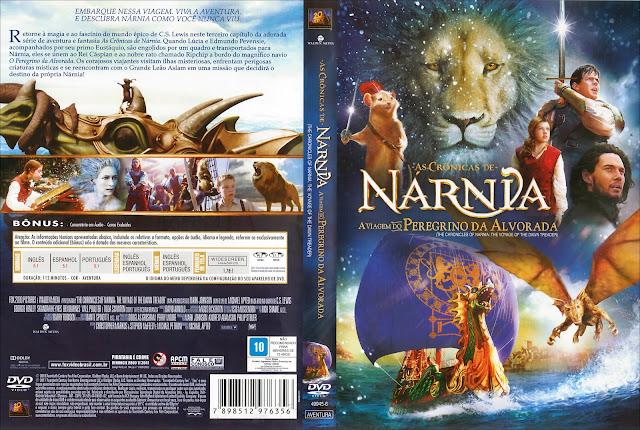 Capa DVD As Crônicas de Nárnia A Viagem do Peregrino da Alvorada